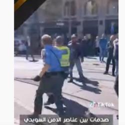 صدمات بين عناصر الامن السويدي والمعتصمين في مدينة يوتوبوري